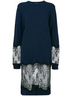 платье-свитер с кружевными вставками Each X Other