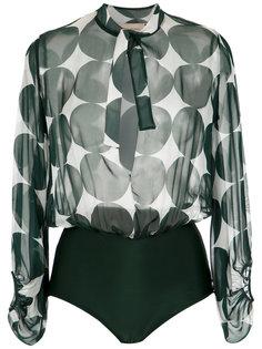 printed silk bodysuit Adriana Degreas