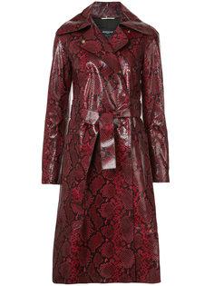пальто с эффектом змеиной кожи Rochas