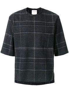 свитер с короткими рукавами в клетку Stephan Schneider