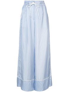 широкие полосатые брюки Sacai