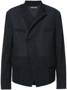 полосатый пиджак с панельным дизайном Alexandre Plokhov