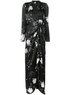 long floral wrap dress Paule Ka