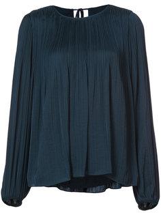плиссированная блузка с рукавами фонариком Elizabeth And James