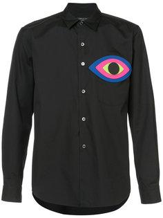 рубашка с аппликацией в форме глаза Comme Des Garçons Homme Plus