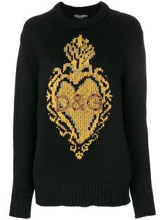 джемпер с узором интарсия  Dolce & Gabbana