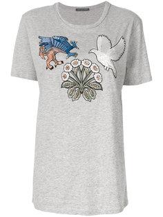 футболка с нашивками Alexander McQueen