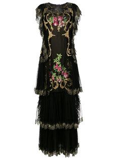 вечернее платье с вышивкой  Alberta Ferretti