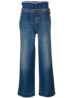 джинсы с высокой талией с поясом Maison Margiela
