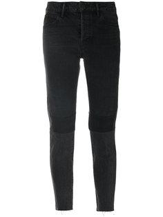 """укороченные джинсы дизайна """"пэчворк"""" Helmut Lang"""