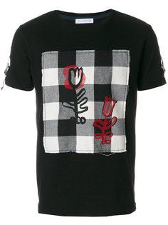 футболка с панелью в клетку JW Anderson