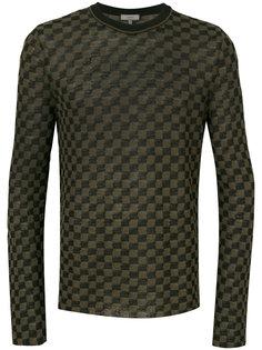 свитер с круглым вырезом и мелким узором Lanvin