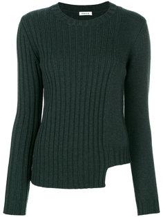 свитер в рубчик с вырезной деталью P.A.R.O.S.H.