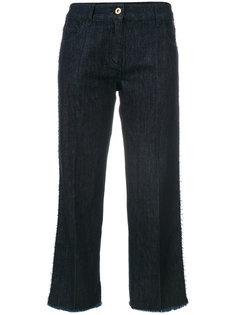 укороченные джинсы с бахромой Blumarine