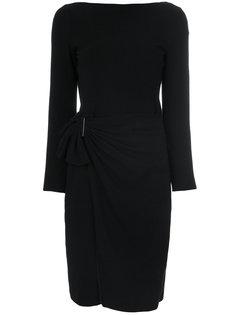платье с деталью со сборкой Armani Collezioni