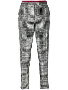 зауженные брюки в ломаную клетку  Fendi