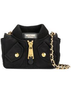 сумка на плечо в форме куртки-бомбер Moschino