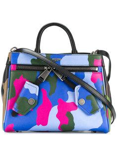 байкерская сумка-тоут с камуфляжным узором Moschino