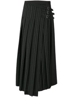 плиссированная юбка с пряжками McQ Alexander McQueen