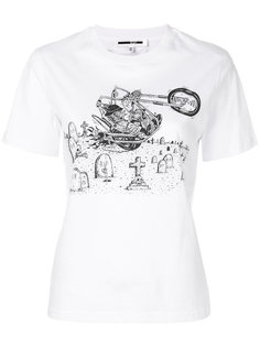 футболка с принтом кролика McQ Alexander McQueen