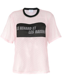 футболка с кружевной вставкой  Au Jour Le Jour