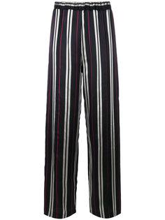 жаккардовые брюки в полоску  Au Jour Le Jour