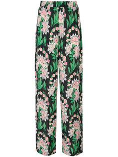 брюки с цветочным узором  Au Jour Le Jour