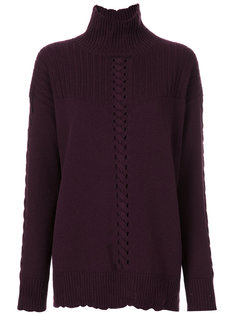 свитер с высоким воротником с ребристой фактурой  Barrie