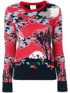 свитер вязки интарсия Barrie