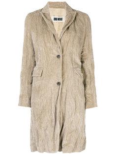 однобортное пальто с оборками  Uma Wang