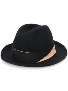 шляпа-федора с лентой Borsalino
