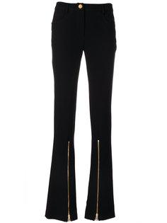 расклешенные брюки с молниями  Boutique Moschino
