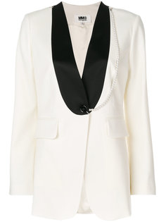 пиджак с контрастной отделкой  Mm6 Maison Margiela