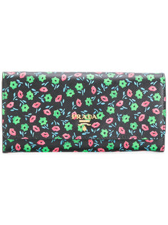 кошелек с цветочным принтом Prada