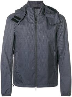 куртка с капюшоном  и монограммным принтом Emporio Armani