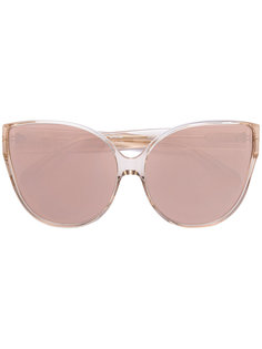 """массивные солнцезащитные очки формы """"кошачий глаз"""" Linda Farrow Gallery"""
