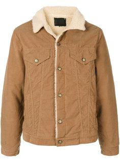 вельветовая куртка с меховой оторочкой R13