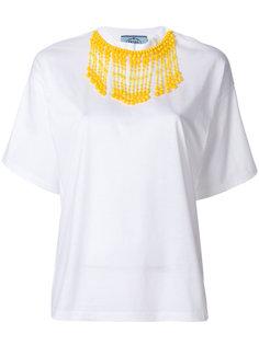 футболка с отделкой бисером  Prada