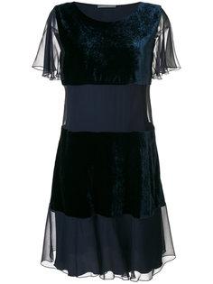 многослойное расклешенное платье Alberta Ferretti