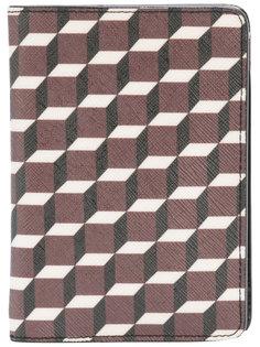 обложка для паспорта с геометрическим принтом Pierre Hardy