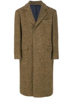 """твидовое пальто с узором """"елочкой"""" Mp  Massimo Piombo"""