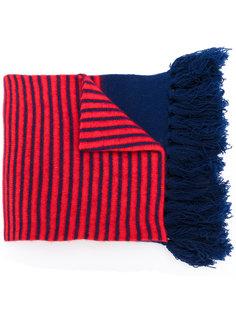 шарф в полоску с бахромой  Mp  Massimo Piombo