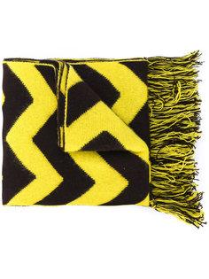"шарф с бахромой и рисунком ""зигзаг"" Mp  Massimo Piombo"