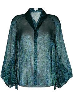 полупрозрачная блузка Delpozo