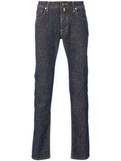 джинсы прямого кроя с контрастной строчкой Jacob Cohen