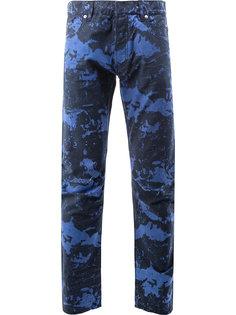 джинсы с мраморным принтом Balmain