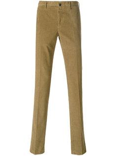 вельветовые брюки кроя слим Incotex