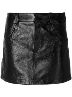 лакированная мини-юбка Chloé