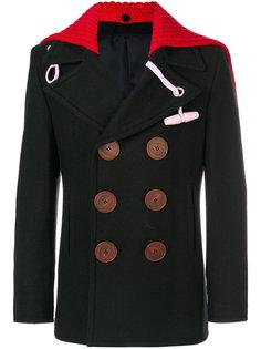 двубортное пальто со съемным воротником Givenchy