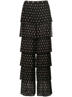 брюки с многослойным дизайном и цветочным принтом Vilshenko